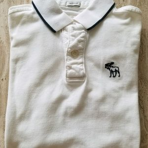 New Abercrombie & Fitch Muscle White Polo Sz Large